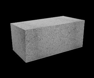 Блок бетонный полнотелый стеновой