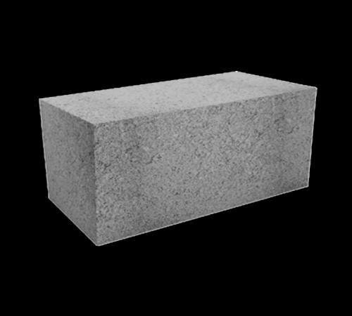 Блок бетонный полнотелый фундаментный